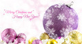 Various sized and colored Christmas balls with bokeh, snow and wishes - PhotoDune Item for Sale