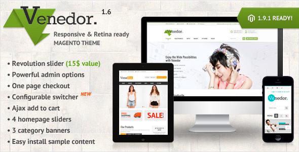 Venedor Premium Responsive Magento Theme