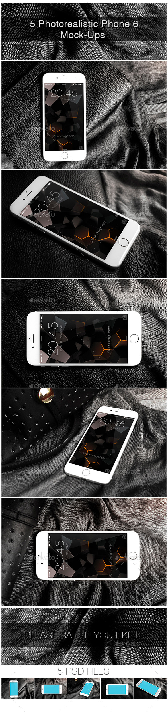 GraphicRiver Photorealistic Phone 6 Mock-Up 9788227