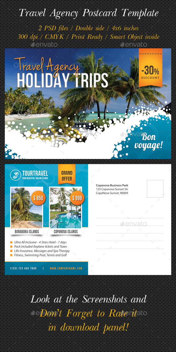 GraphicRiver Travel Agency Postcard Template 9788269