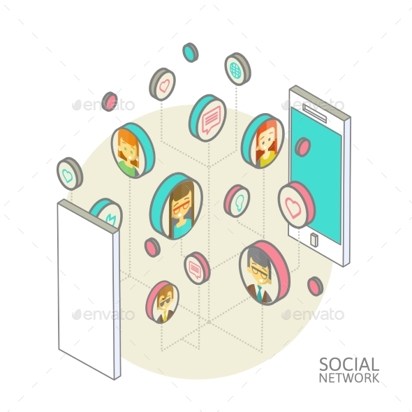 GraphicRiver Conceptual Image with Social Networks 9788312