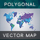 World Map Polygon Vector - GraphicRiver Item for Sale