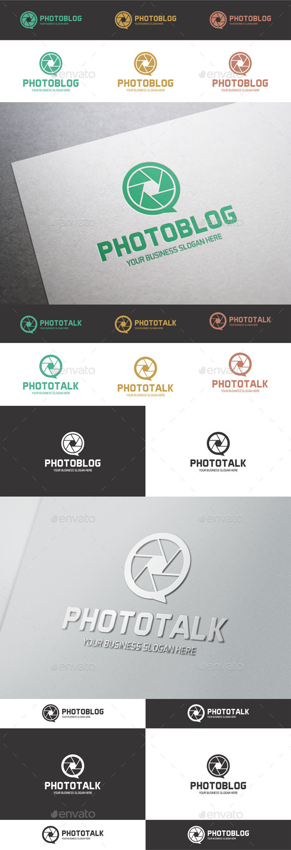 GraphicRiver Photo Talk Photo Blog Logo 9788442