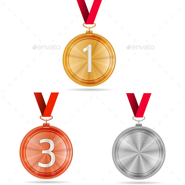 GraphicRiver Vector Illustration of Winner Medals 9788450