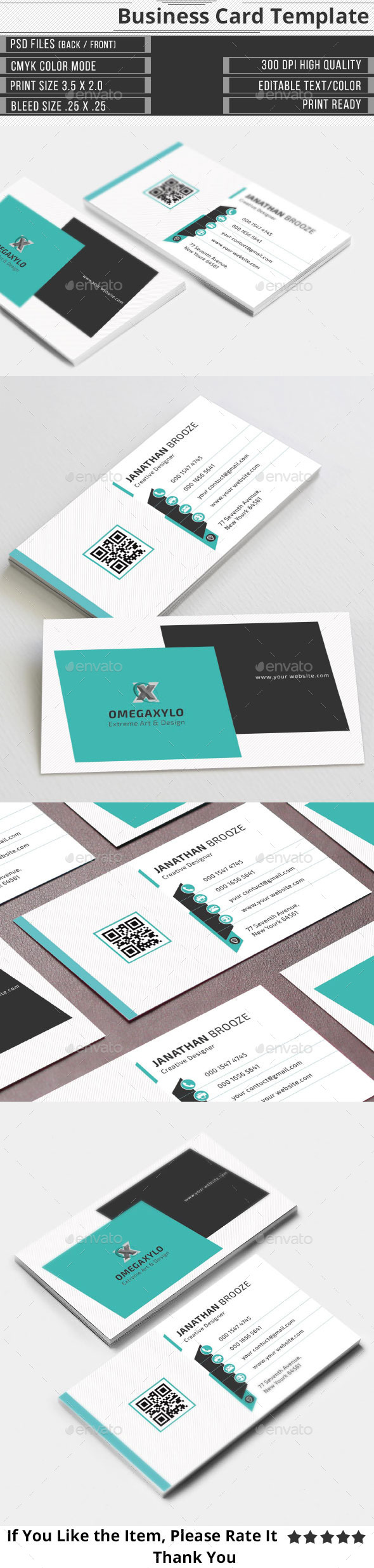 GraphicRiver Clean Corporate Business Card 9788469