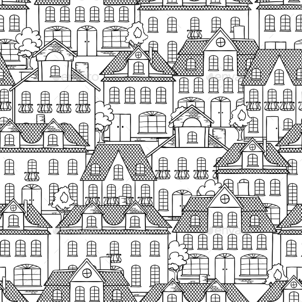 GraphicRiver Houses Background 9788492