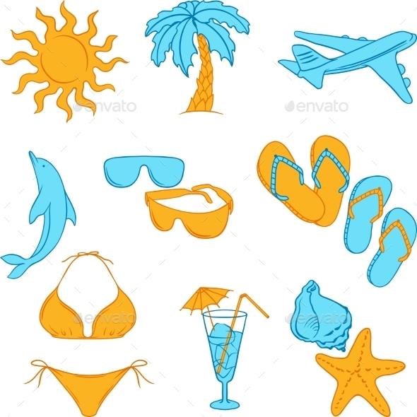 GraphicRiver Tourism Symbols 9788496