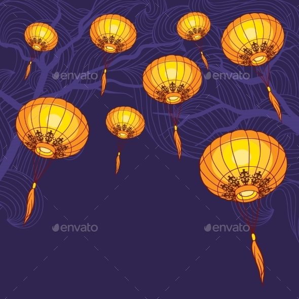 GraphicRiver Chinese Lanterns 9788514