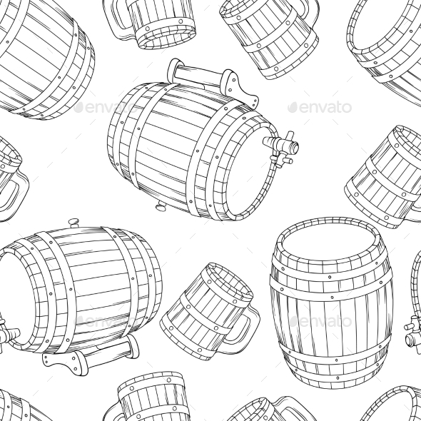 GraphicRiver Barrel Background 9788520