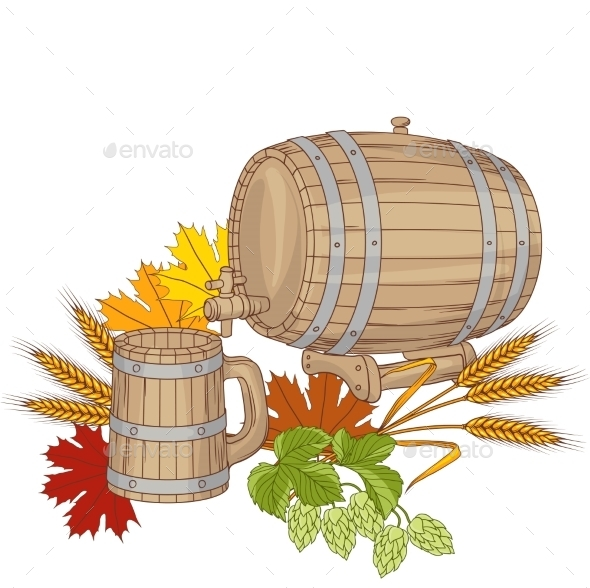 GraphicRiver Barrel Background 9788525