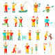 People in Different Situations Friends Family - GraphicRiver Item for Sale