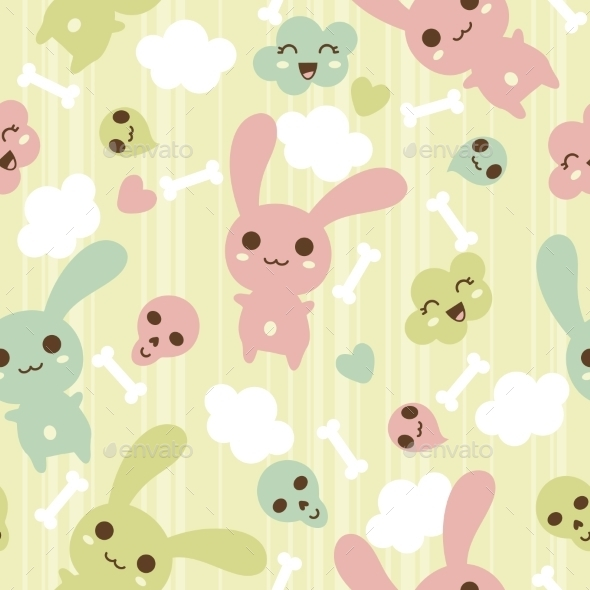 GraphicRiver Kawaii Pattern 9788562