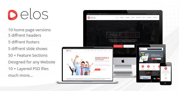 ThemeForest Elos Responsive Multipurpose WordPress Theme 9208674