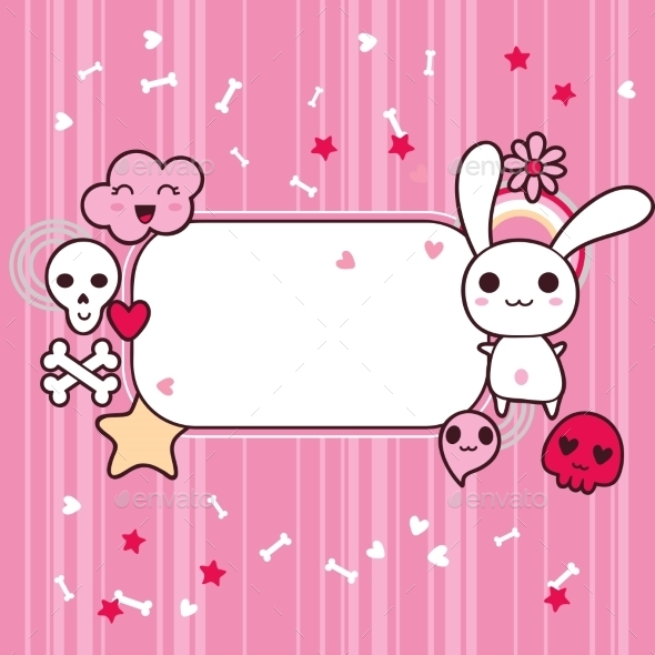 GraphicRiver Kawaii Frame 9788565