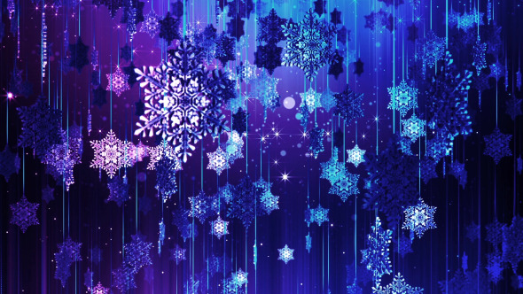 Christmas & New Year Falling Snowflakes Backdrop by HK_graphic ...