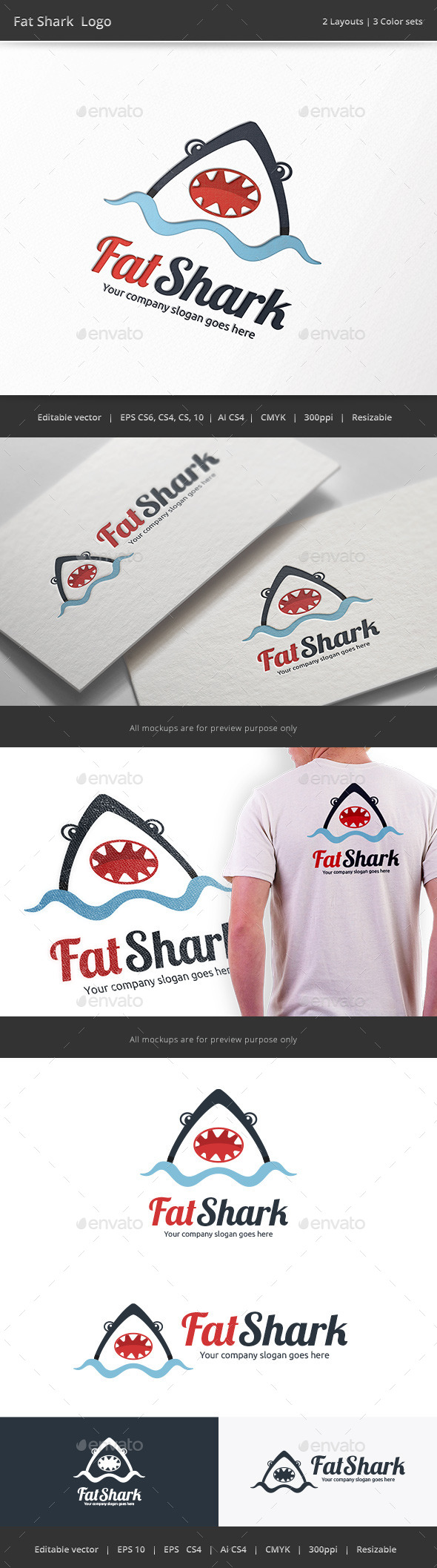 GraphicRiver Fat Shark Logo 9788750