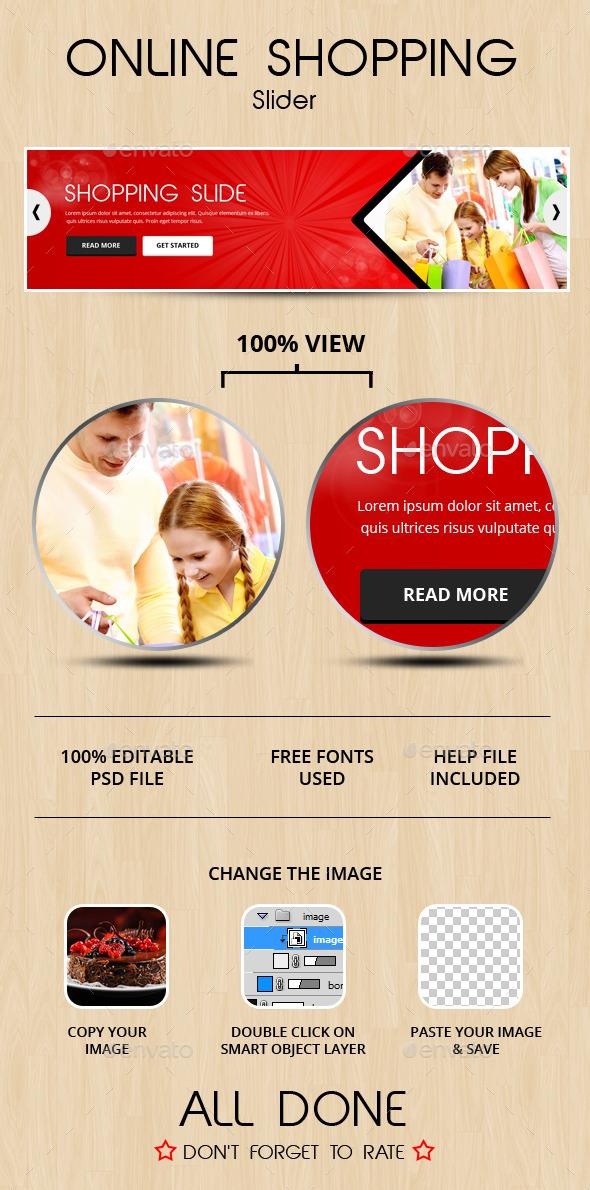 Online Shopping Slide