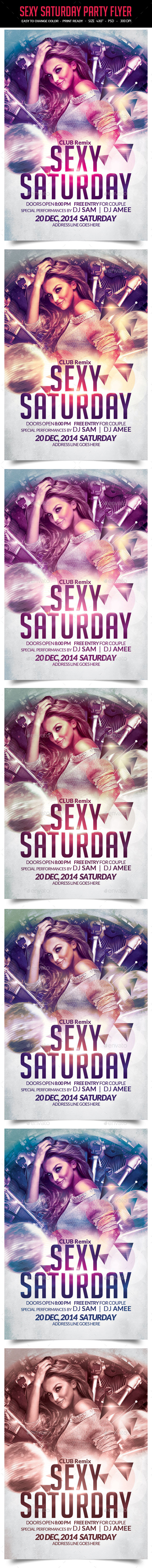 Sexy Saturday Party Flyer