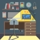 Flat Design Illustration of Workspace - GraphicRiver Item for Sale