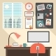 Flat Design of Home Workspace - GraphicRiver Item for Sale