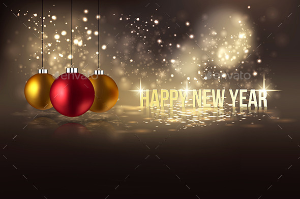 GraphicRiver Happy New Year Hanging Baubles 9789105