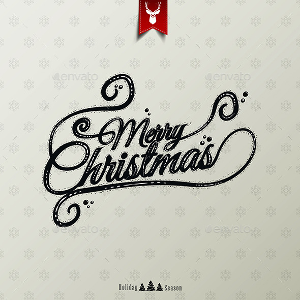 GraphicRiver Vintage Christmas Typographical Background 9789121