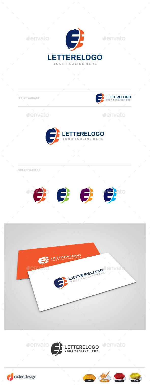 GraphicRiver E Letter Logo 9789268