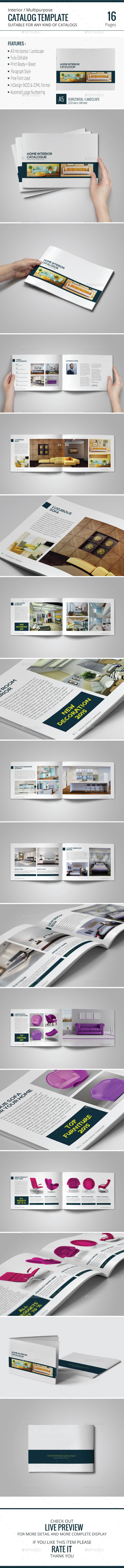 GraphicRiver Multipurpose Brochure Catalog Template 9789434
