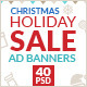 Christmas Holiday Sale Web Ad Marketing Banners - GraphicRiver Item for Sale