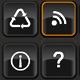 Orange Glow metal icon set - ActiveDen Item for Sale