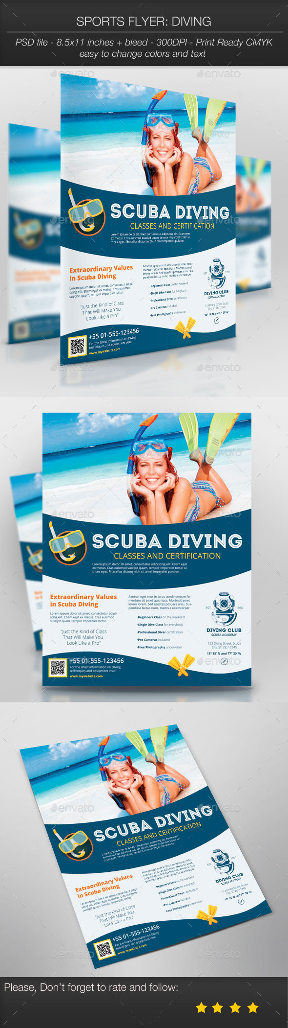 GraphicRiver Sports Flyer Diving 9789651