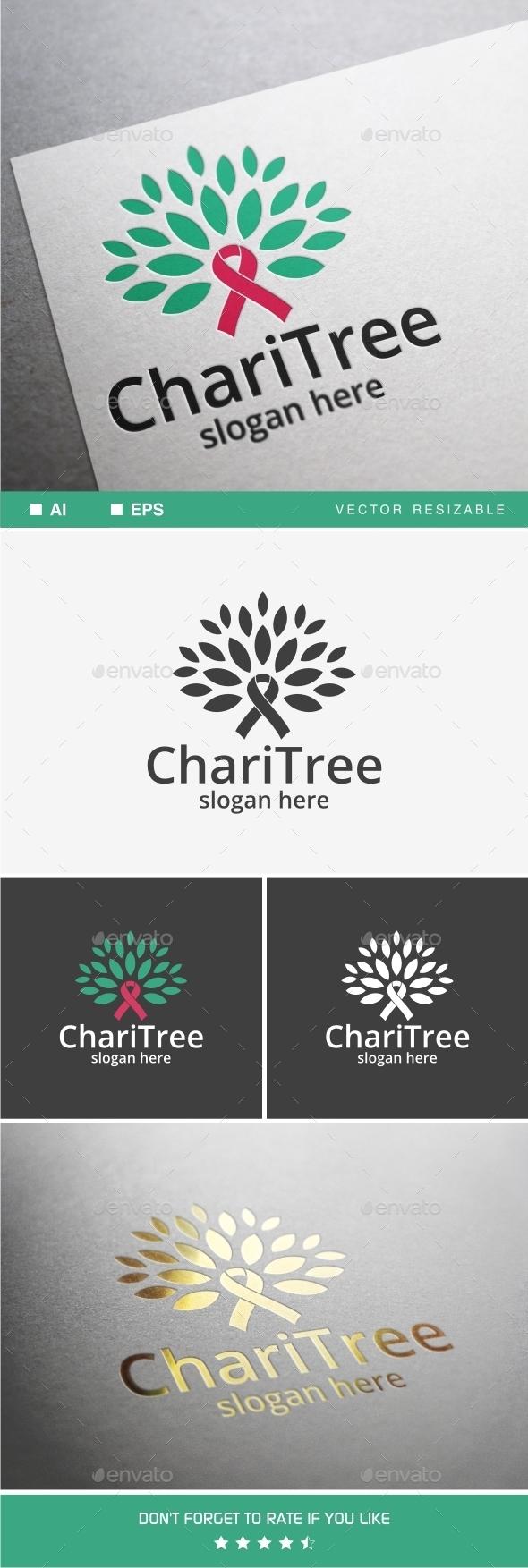 GraphicRiver Charitree Logo 9789839