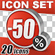 20 Percentage Icons Set - GraphicRiver Item for Sale