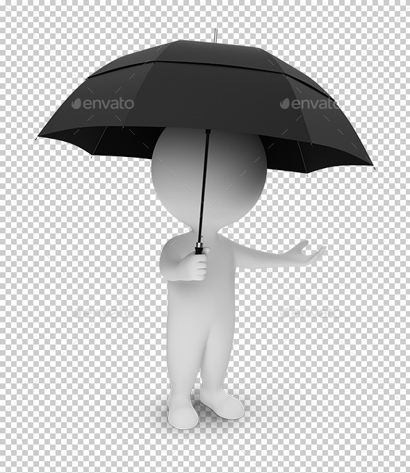 3D small people umbrella