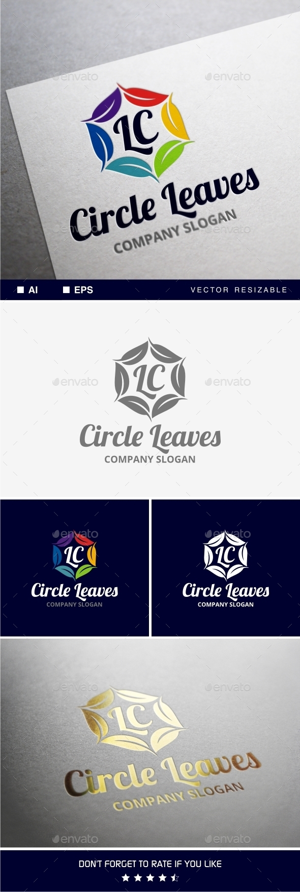 GraphicRiver Circle Leaves Logo 9789903