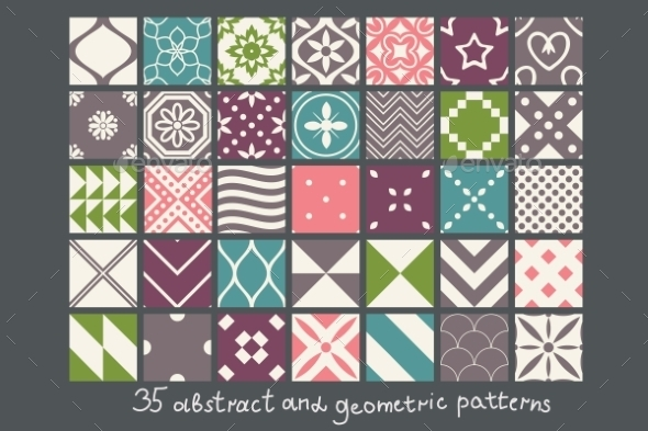GraphicRiver Abstract Patterns 9790089