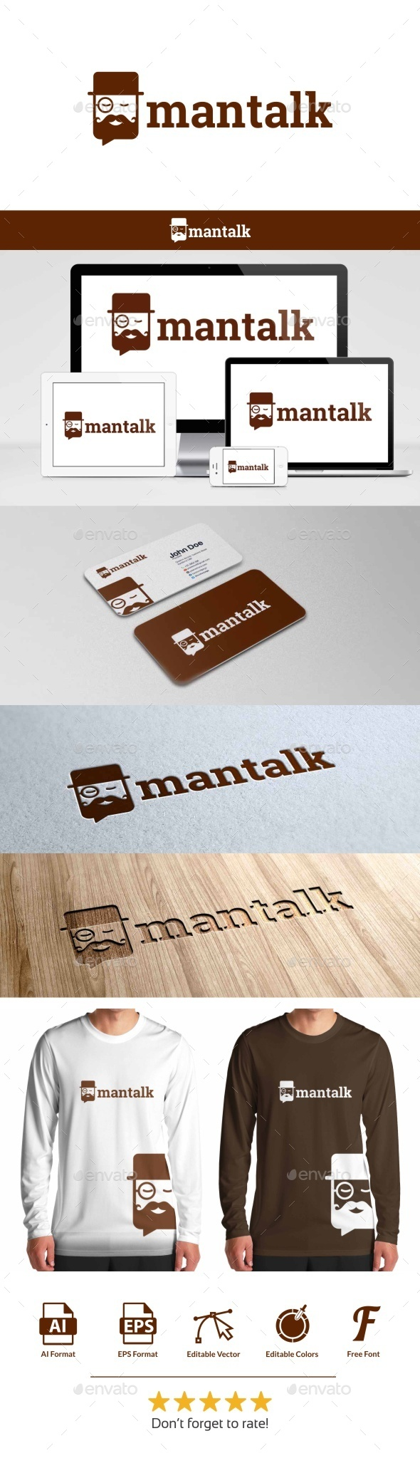 GraphicRiver Man Talk Logo 9790184