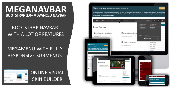 MegaNavbar v 2.2.0 Advanced Mega Menu for Bootstrap 3.0&