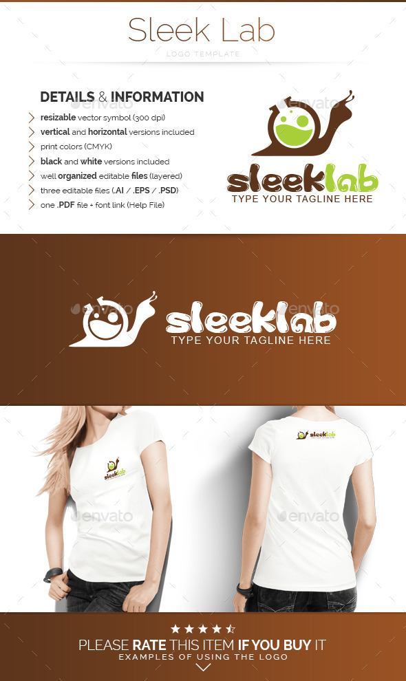 GraphicRiver Sleek Lab Logo Template 9790383
