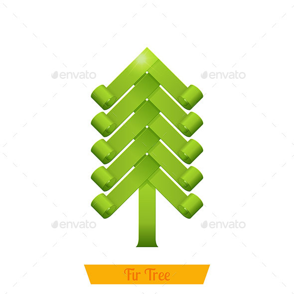 GraphicRiver Fir Tree Green 9790682