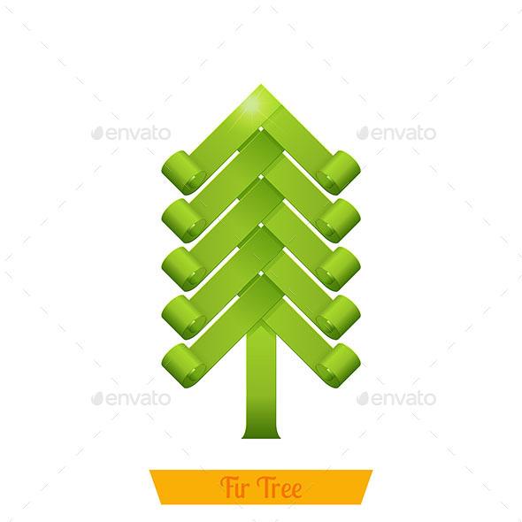 GraphicRiver Fir Tree Green 9790682