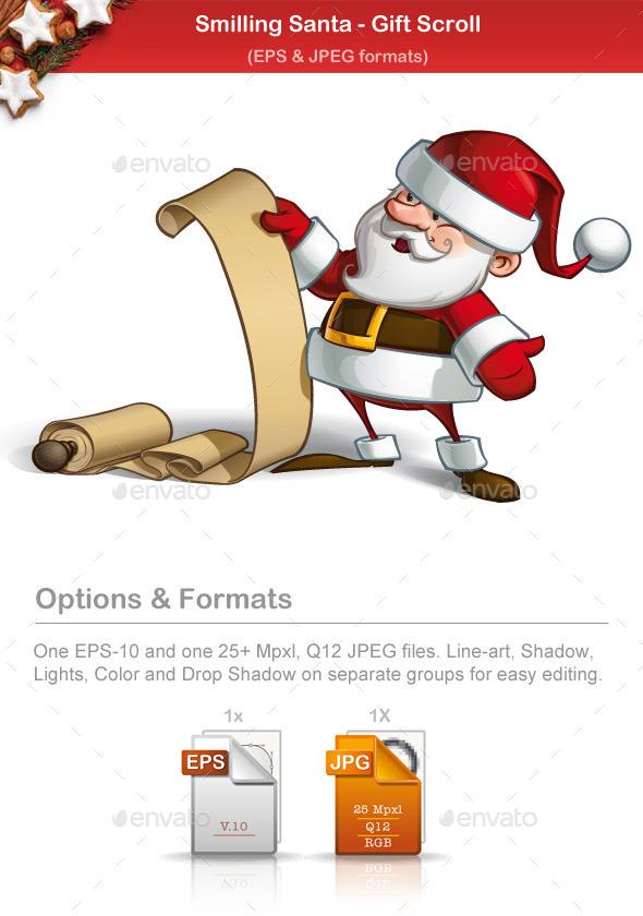 GraphicRiver Smilling Santa Gift Scroll 9790827