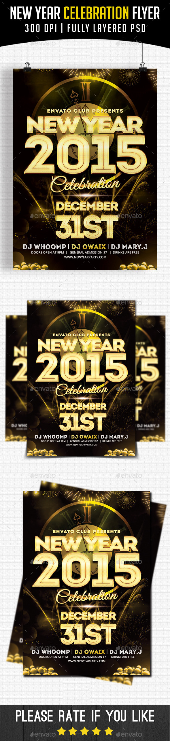 GraphicRiver New Year Celebration 2015 9790911
