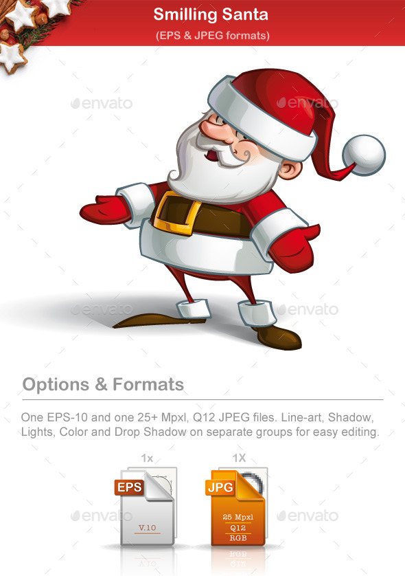 GraphicRiver Smiling Santa 9791199