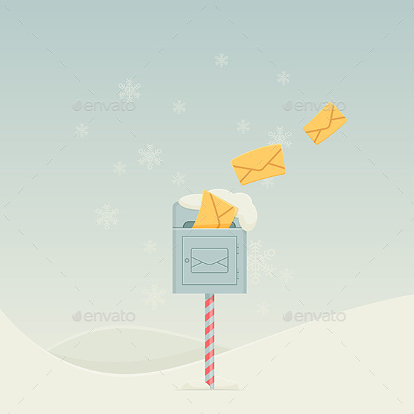 GraphicRiver Snowy Letterbox 9791344