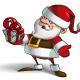 Smilling Santa - Holding a Present - GraphicRiver Item for Sale