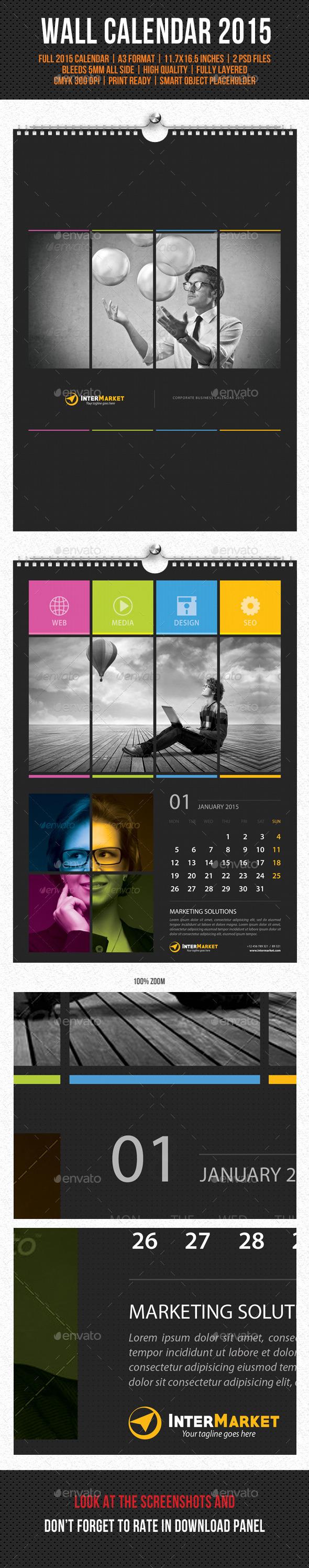 GraphicRiver Corporate Wall Calendar 2015 V04 9791401