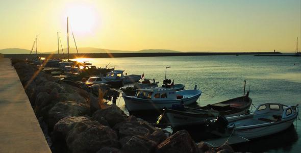 Fishing Boats in Dock