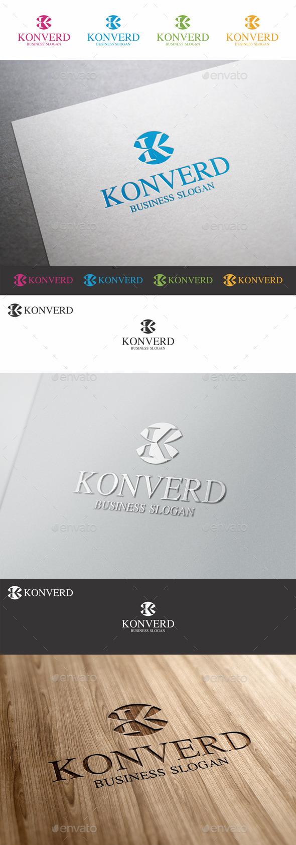 GraphicRiver K Letter Logo Template Konverd 9791426