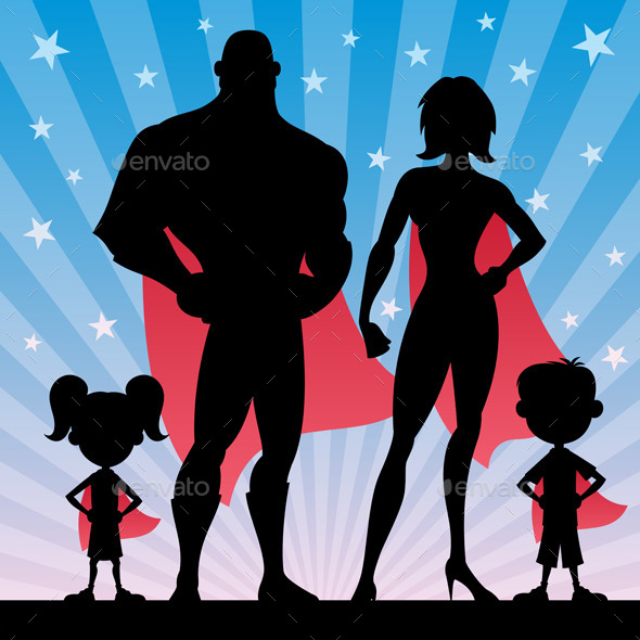 GraphicRiver Superhero Family 9747887